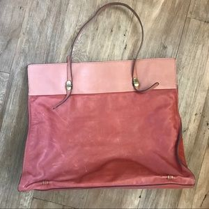Large soft leather Gerard Darel handbag